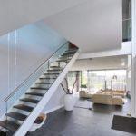 De architectuur van een modern woonhuis